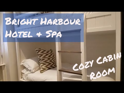 Brighton Harbour Hotel and Spa | Cozy Cabin Bunk Bed Room | Hotel Room Tour | June 2018