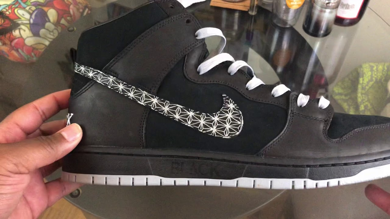 erección Integral Conductividad  Black x Nike SB Dunk High QS Collab !!! - YouTube