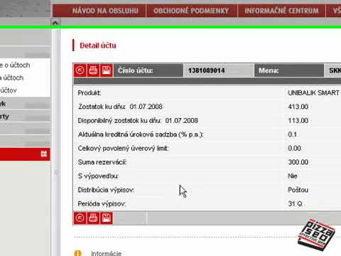 Unicredit Banka Internet Banking Použiteľnosť Videocast Pizza