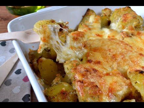 Patatas al ajo y queso Receta fácil y deliciosa