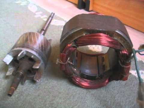 Singlephase induction motor YouTube – Rotor And Stator Single Phase Motor Wiring Diagrams