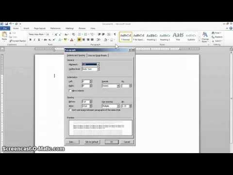 MLA Format Setup in Word 2010 - YouTube - Mla Format For Word