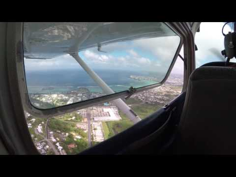 Flight Over Guam Island