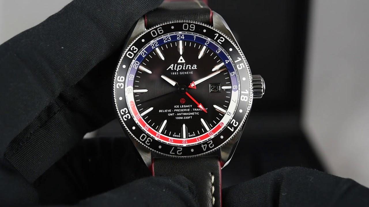 Alpina Alpiner GMT Business Hours ALGRNAQ YouTube - Alpina gmt