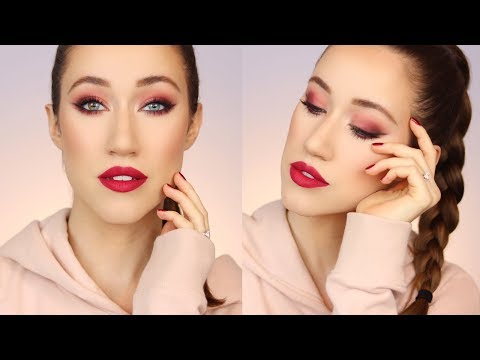 BOLD BERRY MATTE MAKEUP TUTORIAL | ALLIE GLINES