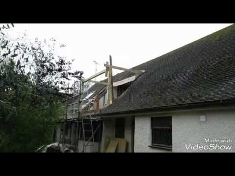 Roof dormer construction traditional way