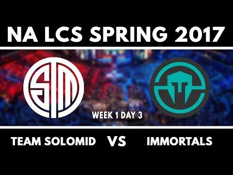 TSM vs IMT - S7 NA LCS Spring 2017 W1D3 - Team SoloMid vs Immortals