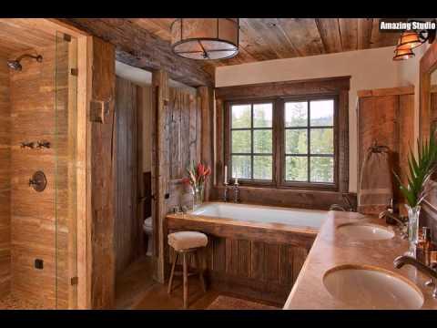 Wundersch ne rustikale badezimmer drapierte im holz youtube - Rustikale badezimmer ...