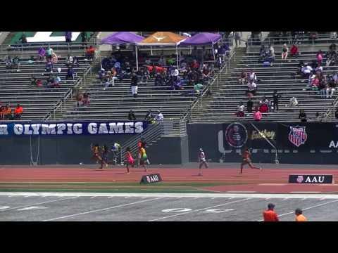 14u Girls Track Life University 47.27s 4x100m Finals AAU Junior Olympics 2017