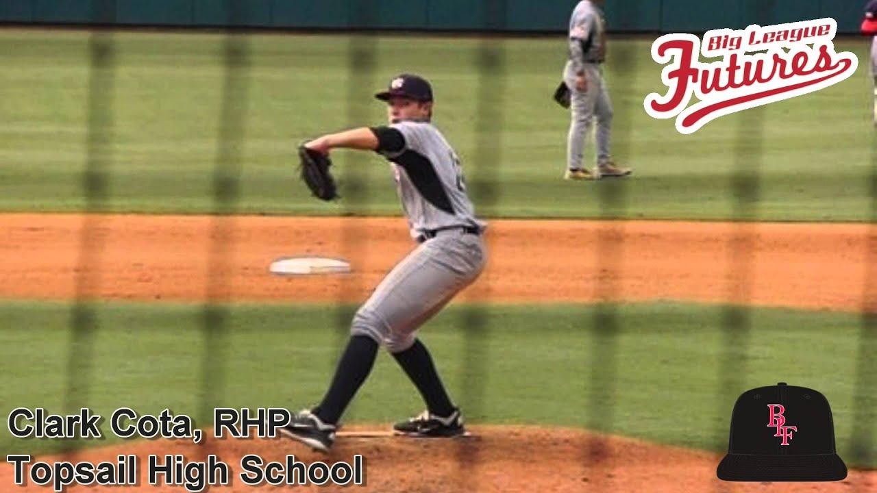 Clark Cota, RHP, Topsail High School, Pitching Mechanics ...