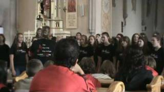 Bella Voce sings Edelweiss at church in Slovakia