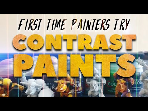 First Time Painters Try Contrast Paints