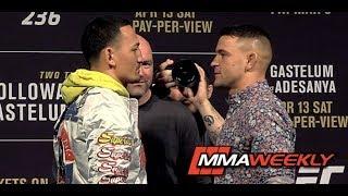 UFC 236 Face Offs: Max Holloway vs Dustin Poirier; Kelvin Gastelum vs Israel Adesanya