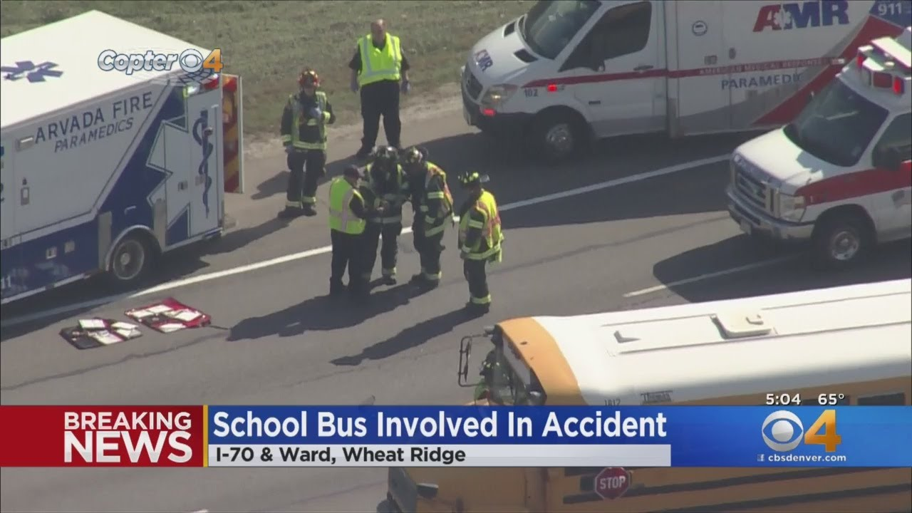 School Bus Involved In Crash On I-70 At Ward Road