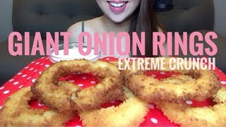 ASMR Crunchy Onion Rings   Cooking & Eating Sounds (No Talking)
