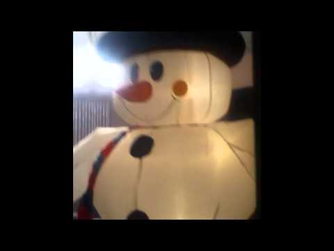 Inflatable Snowman Head