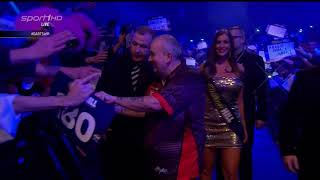 Legende Phil Taylor letzter Walk on WM Darts WM 2018, Finale