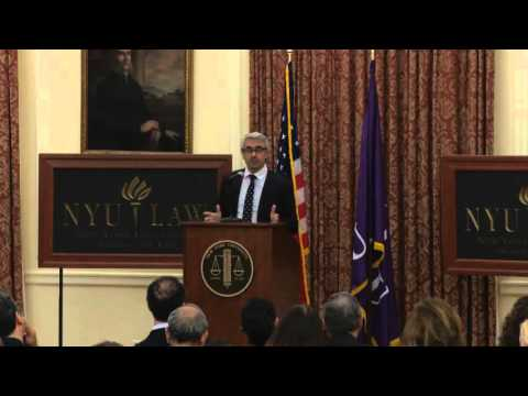 2015 Tillinghast Lecture by Pascal Saint-Amans at NYU School of Law