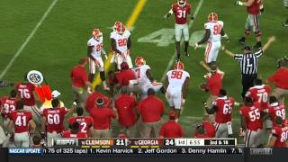 Todd Gurley Georgia Highlights vs Clemson 2014 (Nick Chubb, Sony Michel, Isaiah McKenzie)