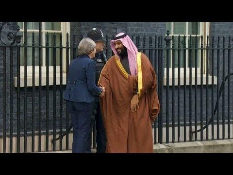 Saudi crown prince's visit to UK sparks protests in London
