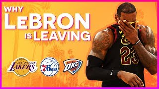 Why LeBron James is Leaving the Cavs | All NBA Podcast Highlight