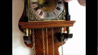 Beautiful Warmink Burl Wood 8 Day Sallander Wall Clock For Sale On Ebay Uk.