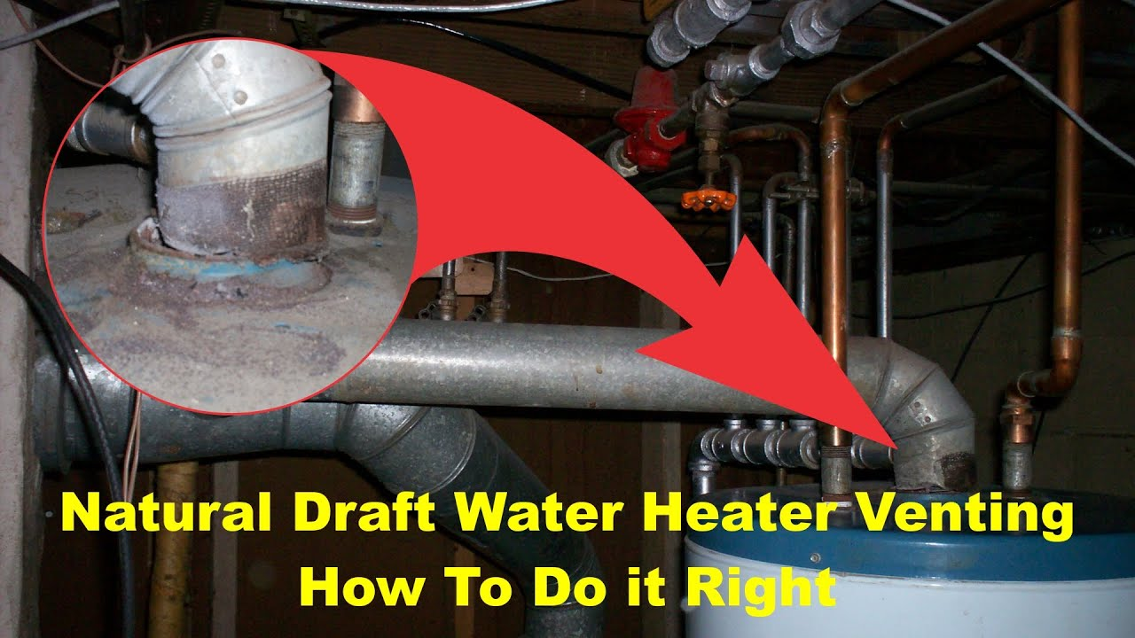 Natural Draft Water Heater Venting Safety And Building