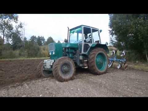 Запуск трактора МТЗ 80 с пускача - YouTube