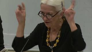 Paula Meehan, Irish poet and Ireland Professor of Poetry (2013-16) reading in UCD