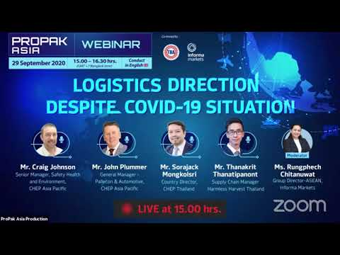 ProPak Asia Webinar EP. 12-Logistics Direction Despite COVID-19 Situation(Session In English)