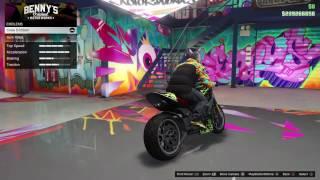 Gta 5 online full custom Principe Diabolus.Bennys motorbike!!!