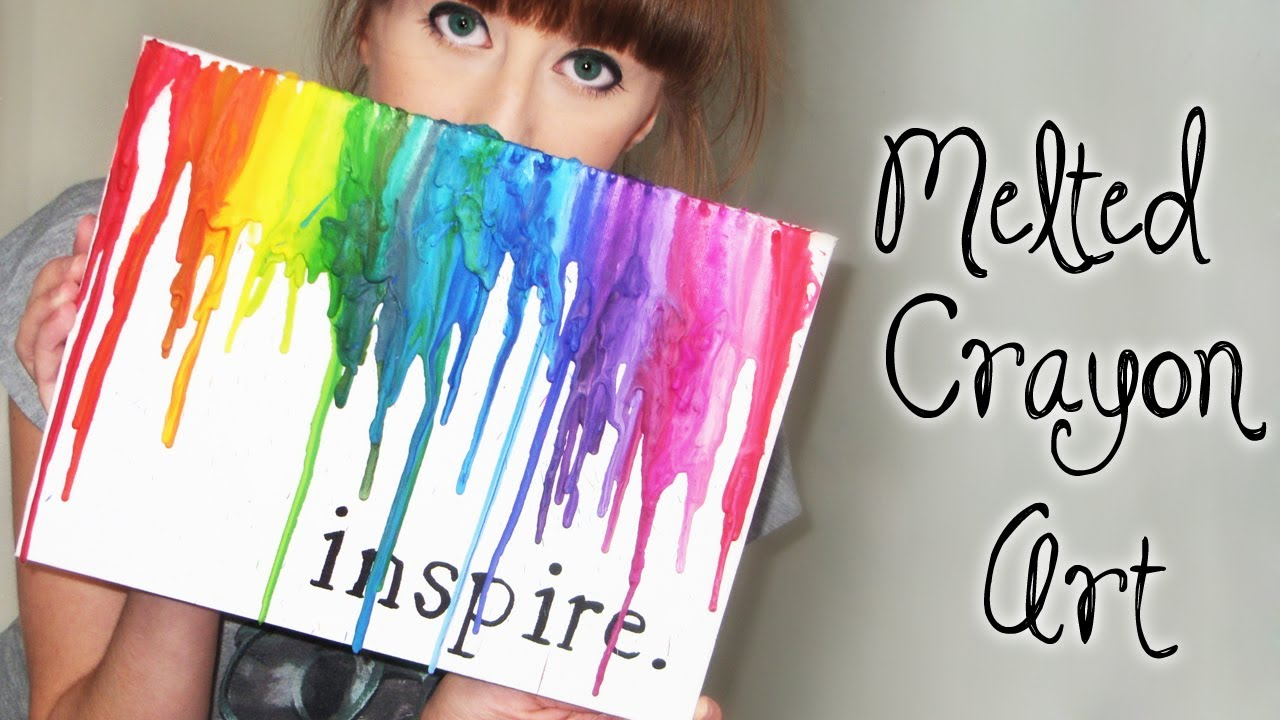 melted crayon art youtube