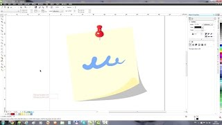 CorelDRAW Example: Note paper icon