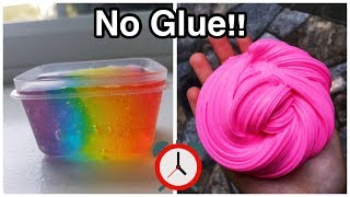 New Ways How To Make No Glue Slime Under 5 Minutes!!