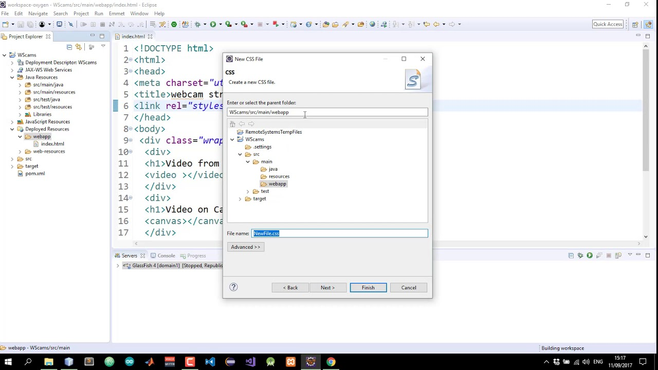 Stream Webcam to Java Server with Websocket #3:Client page