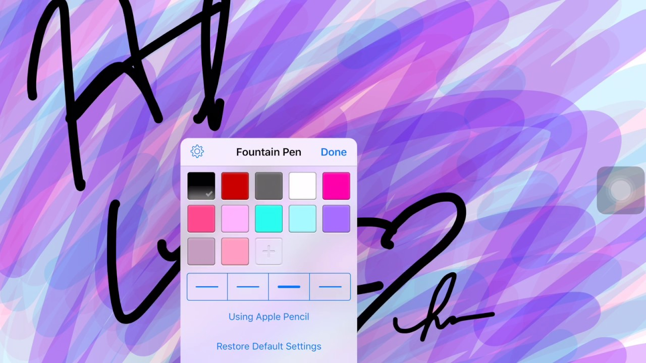 How to add custom Pen/Highlighters colors to Goodnotes
