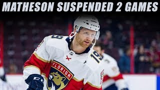 Matheson Suspended 2 Games