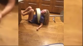 Girl Fall Of The Chair