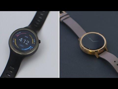 Moto 360 vs. Moto 360 Sport Watch