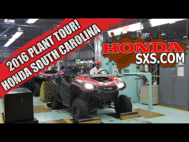 2016 Behind The Scenes   Honda South Carolina ATV / SxS Plant Tour    Clipzui.com