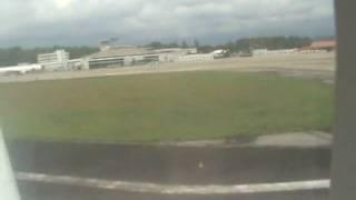 Brunei i airport me in plane