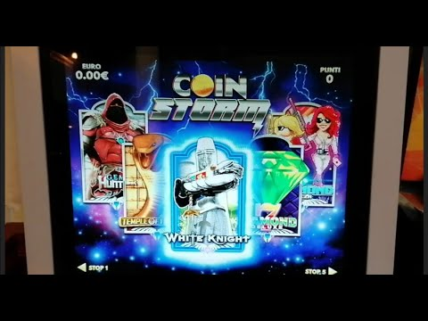 SLOT MACHINE DA BAR A MONETA WHITE KNIGHT CRISTALTEC