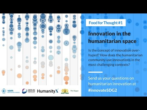 VAM Global Meeting 2017 - March 7: Innovation in the Humanitarian Space
