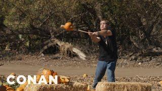 Andy Richter Smashes Pumpkins  - CONAN on TBS