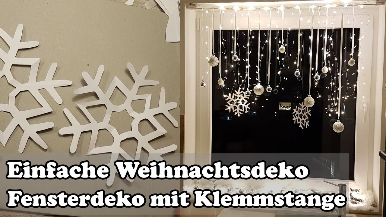 diy fenster weihnachtsdeko mit gardinenstange christmas window decoration youtube. Black Bedroom Furniture Sets. Home Design Ideas