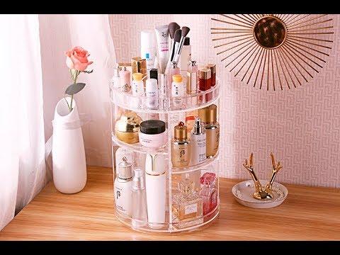c528c833c9cd 360 Rotating Makeup Organizer, DIY Detachable Spinning Makeup Holder  Storage Bag