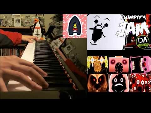 "ONE NIGHT AT FLUMPTY'S SONG - ""Flumpty's Jam"" - DAGames (Advanced Piano Cover)"