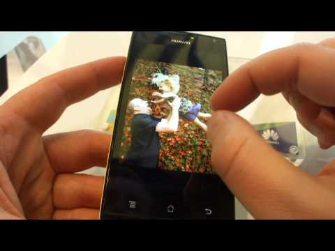 Huawei Ascend P1 S dualcore Android 4.0 Ice Cream Sandwich hands on