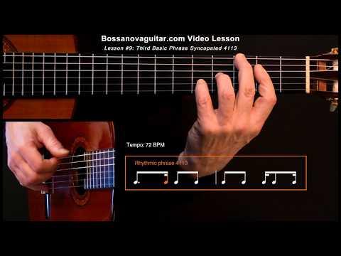 Meditação (Meditation) - Bossa Nova Guitar Lesson #9: Third Basic Phrase Syncopated