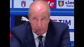 conferenza stampa ventura dopo Italia - Svezia